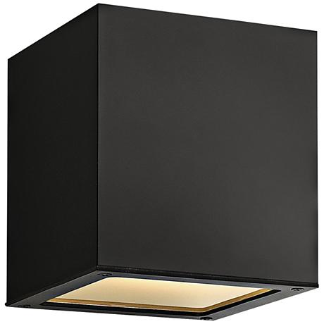 "Hinkley Kube 6 1/4"" High Satin Black Ceiling Light"