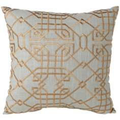 "Metropolitan Aqua 18"" Square Designer Throw Pillow"