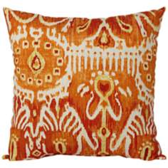 "Cerva Pumpkin 18"" Square Designer Throw Pillow"
