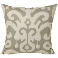 "Denton Gray 15"" Square Designer Throw Pillow"