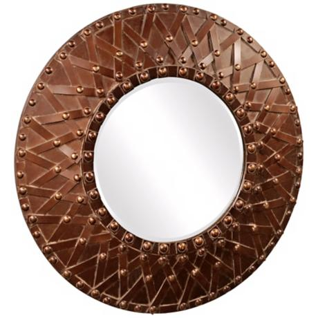 "Howard Elliott Collection 32"" Round Wagner Wall Mirror"