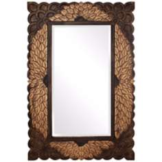"Howard Elliott Collection 48"" High Pewter Autumn Wall Mirror"