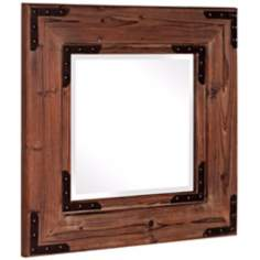 "Howard Elliott Collection 28"" Square Caldwell Wall Mirror"