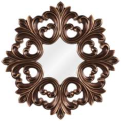 "Howard Elliott Annabelle 35"" High Copper and Bronze Mirror"