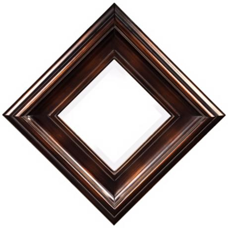 "Howard Elliott Palmer 19"" Square Wood Decorative Wall Mirror"
