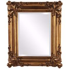 "Howard Elliott Edwin 23"" High Antique Gold Wall Mirror"