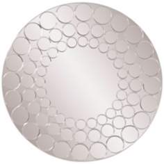 "Howard Elliott Bubbles 36"" High Round Wall Mirror"