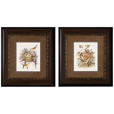 Set of 2 Prairie and Golden Songbird Wall Art Prints I/III
