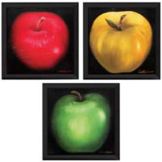"Set of 3 Colorful Citrus 16"" Square Fruit Art Prints"