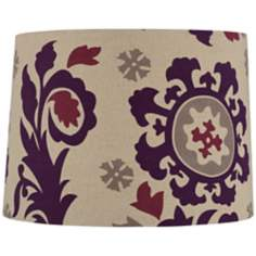 Purple Moroccan Canvas Drum Shade 13x14x10 (Spider)