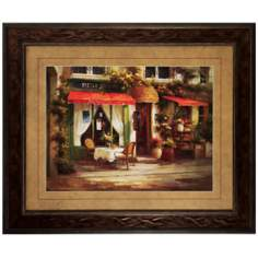 "Restaurant Quarter 36"" High Picturesque Wall Art"