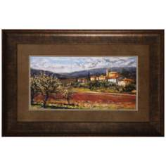 "Hillside Olives 36"" Wide Framed Wall Art Print"