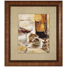 "Wine I 34"" High Framed Wall Art Print"