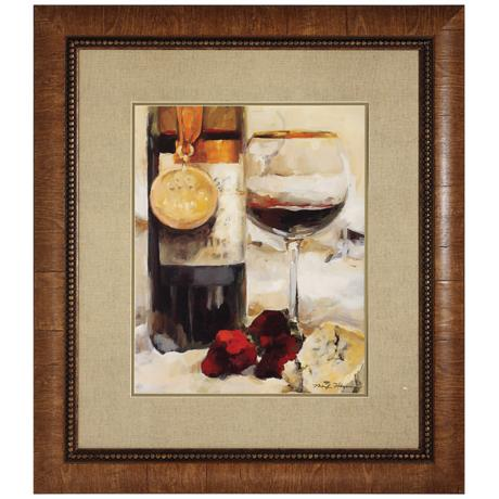 "Wine II 34"" High Framed Wall Art Print"
