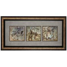 "Dragonflies 35"" Wide Framed Wall Art"