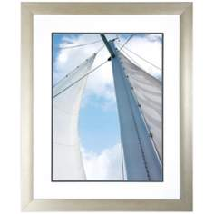 "Voyage II 34"" High Framed Sailboat Wall Art Print"
