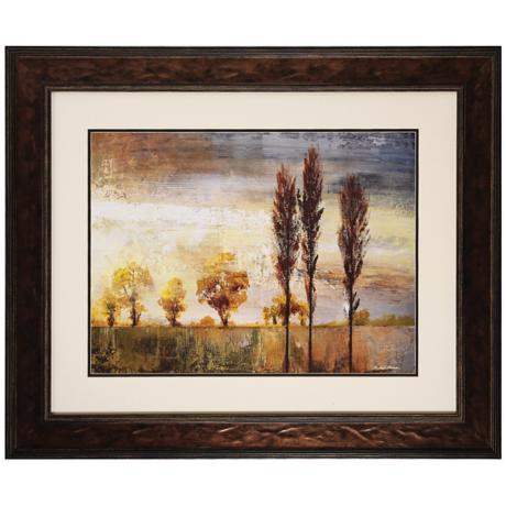 "Standing in the Wind II 36"" Wide Framed Landscape Art Print"