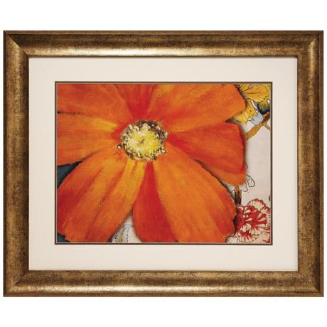 "Summer in Paris II Framed 35"" Wide Flower Wall Art Print"