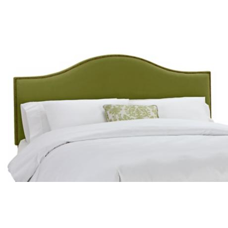Apple Green Velvet Nail Button Headboard
