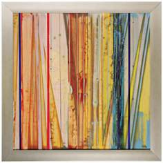 "Fresh Air IV 28"" Square Contemporary Wall Art"