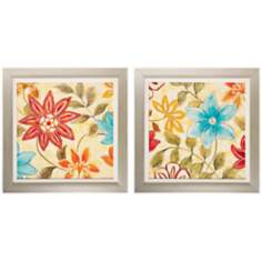 "Set of 2 Woodstock I/II 25"" Square Colorful Wall Art"