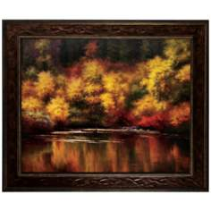 "Nature Mirror 36"" Wide Framed Wall Art"