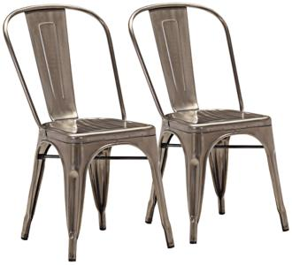 Set of 2 Zuo Modern Elio Gunmetal Dining Chairs (V7408) V7408