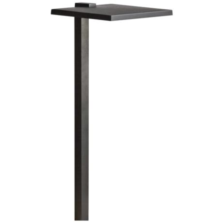 Kichler Black Shallow Shade Outdoor LED Path Light