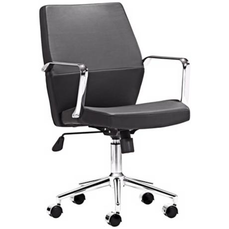 Zuo Holt Collection Low Back Black Office Chair