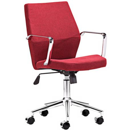 Zuo Holt Collection Low Back Red Office Chair