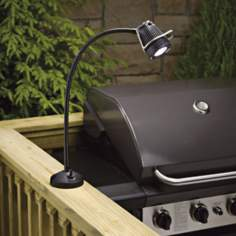 Kichler Black MR-11 Outdoor Gooseneck Barbeque Light