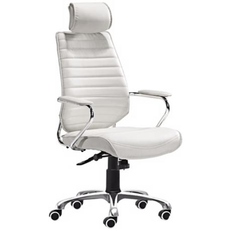 Zuo Enterprise Collection High Back White Office Chair