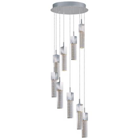 "ET2 Fizz 15 3/4"" Wide 9-Light Chrome Ceiling Light Fixture"