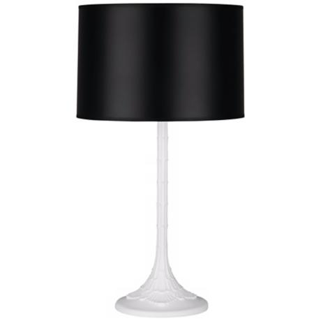 Robert Abbey Redding Black Shade Modern Table Lamp