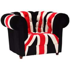 Zuo Modern Union Jack Tufted Armchair
