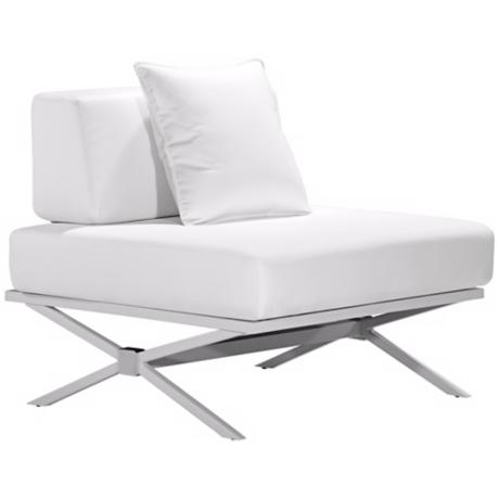 Zuo Modern Xert Modular White Lounge Chair