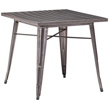 Zuo Modern Olympia Gunmetal Small Dining Table