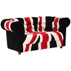 Zuo Modern Union Jack Loveseat