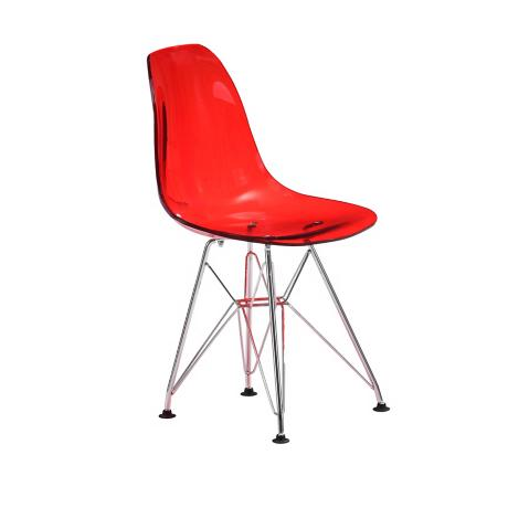 Zuo Baby Spire Transparent Red Kids Chair