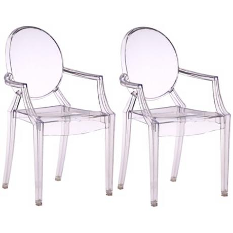 Set of Two Zuo Baby Anime Transparent Kids Armchairs