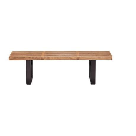 Zuo Heywood Double Natural Wood Bench
