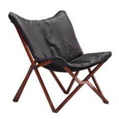 Zuo Draper Black Lounge Chair