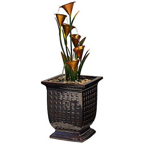 Blooming Cascade Indoor - Outdoor Floor Fountain