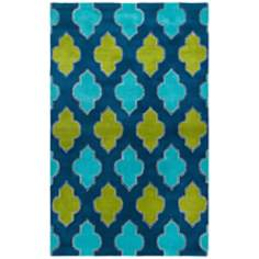 Casablanca Collection Blue Area Rug