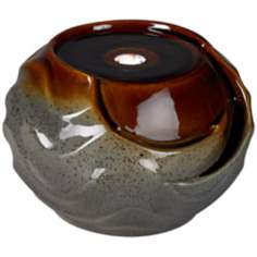 Artesian Indoor/Outdoor LED Ceramic Tabletop Fountain