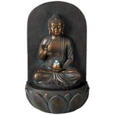 Indoor/Outdoor LED Seated Buddha Fountain
