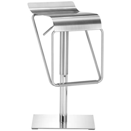 Set of 2 Zuo Dazzer Adjustable Height Steel Counter Stools