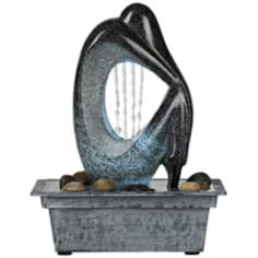 Modern Silhouette LED Indoor/Outdoor Tabletop Fountain
