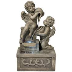 Cherubs with Jars Indoor-Outdoor Fountain