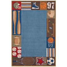 Momeni Lil Mo Whimsy LMJ-4 Denim Area Rug